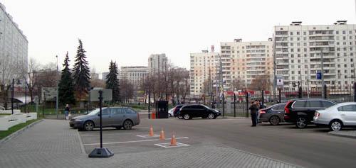 مدخل فندق هوليداي ان موسكو