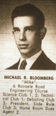صورة مايكل بلومبيرج في كتاب تخرج مدرسته الثانوية