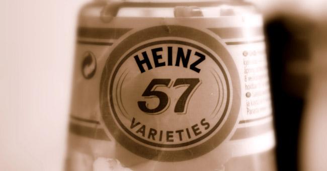 سر الرقم 57 على كل منتجات هاينز