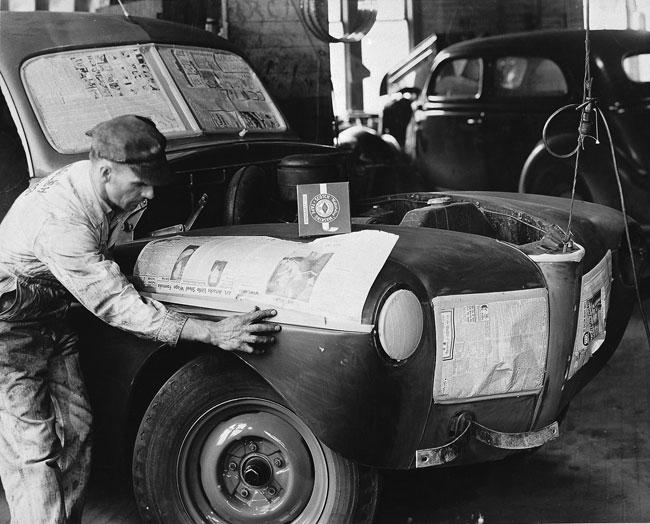 حال ورش دهان السيارات قبل اختراع شريط سكوتش تيب اللاصق