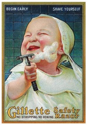 إعلان جيليت العبقري الذي يحمل معان كثيرة: السعادة، البدء مبكرا، سهولة الاستخدام، الأمان...