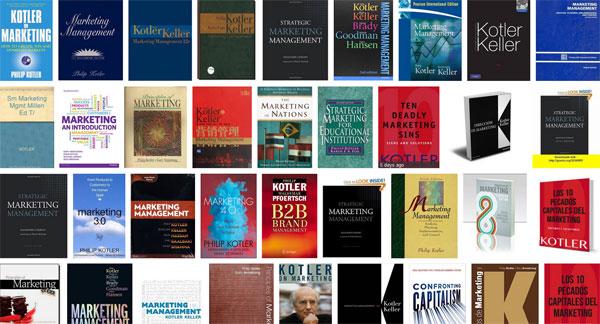 بعض الكتب التي ألفها فيليب كوتلر
