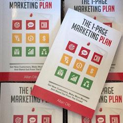 غلاف كتاب خطة التسويق في صفحة واحدة