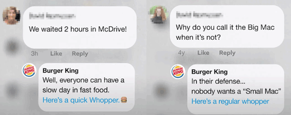 حملة ردود برجر كنج ضد تجاهل ماكدونالدز
